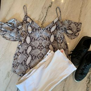 Snake Print Impeccable Pig Blouse